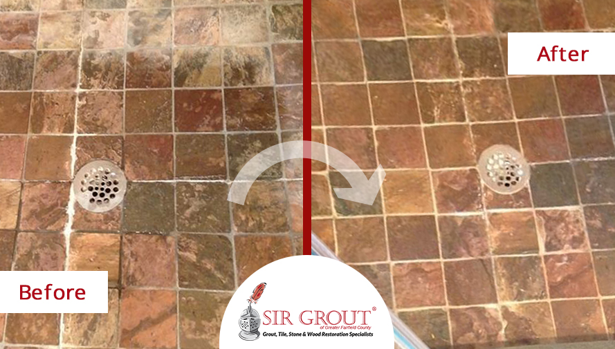Concrete shower floor no tile