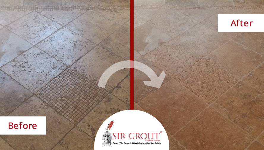 How We Saved This Fairfield Home's Old Travertine Bathroom Floor with a Stone Sealing Treatment
