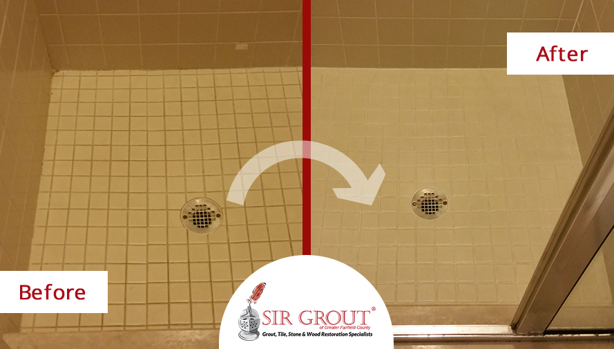 Superior Grout Sealing Revitalizes Old Shower For New Haven Customer Part 30