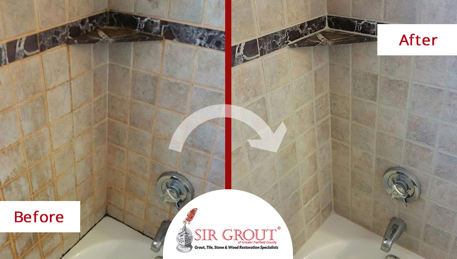 Perfect Marble Shower In Darien, Connecticut Undergoes An Extreme Transformation  With A Grout Sealing Service
