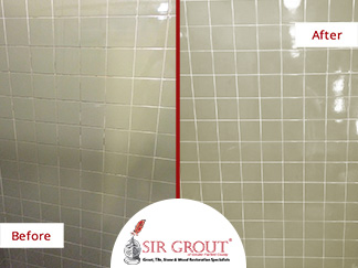This Fairfield Bathroom Went from Moldy to Beautiful with a Professional Grout Cleaning and Caulking Service