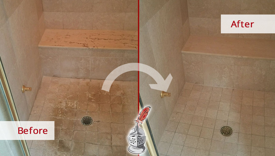 No More Dirt For This Bathroom After Our Tile Cleaning Service In - Bathroom tile cleaning service