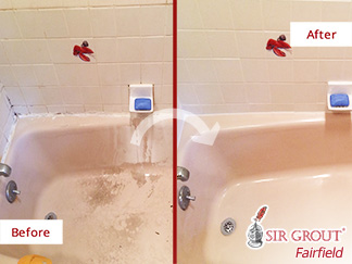 Before and after Picture of This Master Bathroom in Danbury, CT