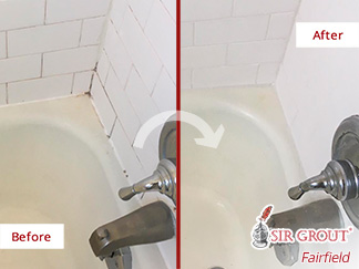 Before and After Picture of a Hard Surface Restoration in Ridgefield, CT