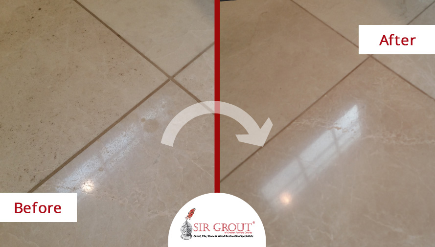 Stone Honing Restores Shine And Glow To Fairfield Customers Natural - Restore tile floor shine