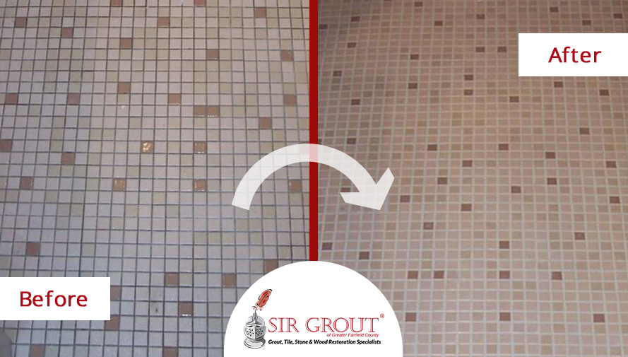 Fairfield Customer Avoids Costly Retiling Project with Grout Recoloring from Sir Grout
