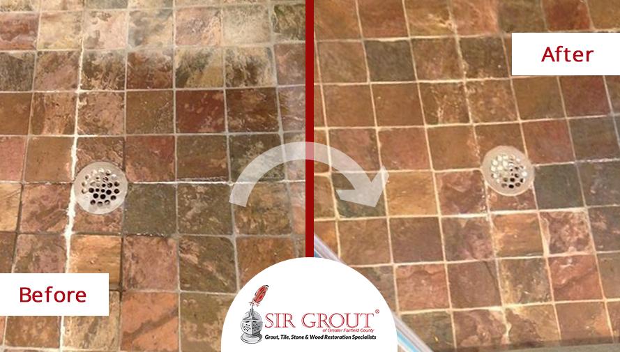 Tile Cleaning Spruces Up Redding Customers Slate Shower Floor