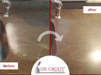 A Stone Honing and Polishing Enhanced This Fairfield Resident's Limestone Countertop